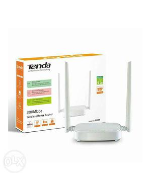 White Tenda 300 Mbps Wireless Router With Box