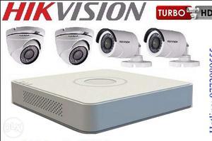 4 Turbo hd cctv cameras set hard disk free and