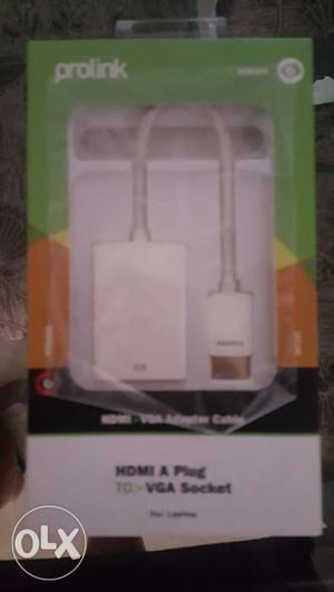 Prolink HDMI A Plug to VGA Socket Adapter Cable