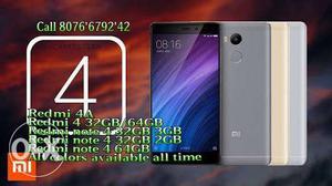 Xiaomi 4A  redmi 4, Note 4 64GB/32GB brand new