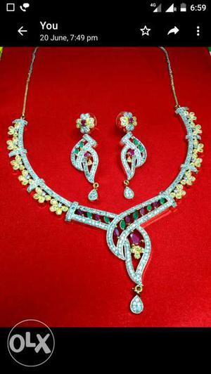 Beautiful CZ American Diamond necklace