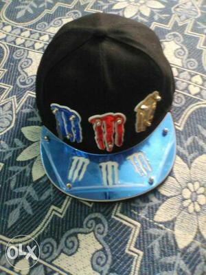 Black And Blue Monster Energy Cap