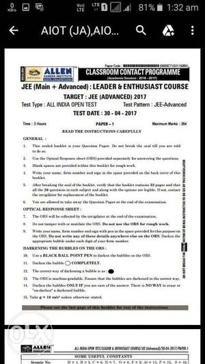 JEE 3 yr test series in pdf with soln