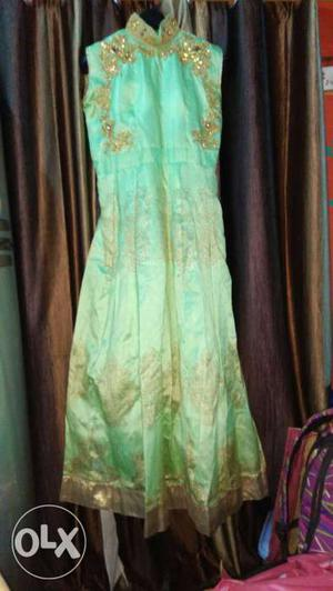 Party wear floor length gown in xl size hand work