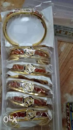 Six Gold Bangle Bracelets