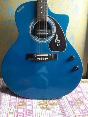 Blue cutaway Godson Electro Acoustic Guitar