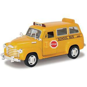 Kinsmart Chevrolet Suburban School Bus (Yellow)