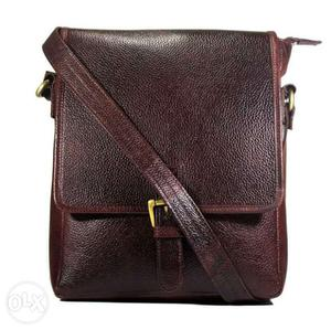 Mr. A genuine leather cross-body Messenger bag