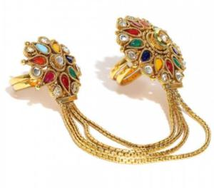 Multicoloured Stone Studded Double Rings New Delhi