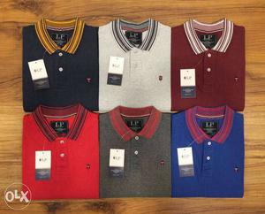 Polo T-Shirts in 6 different colors at ₹ 350 each