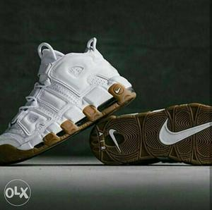 We ship all over india Pair Of White Nike Air Uptempo