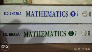R.D Sharma's Mathematics Volume 1 And 2 Books