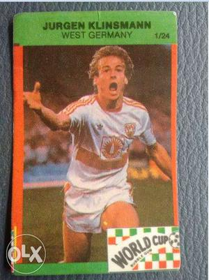 World cup bubble gum football cards  Olympics