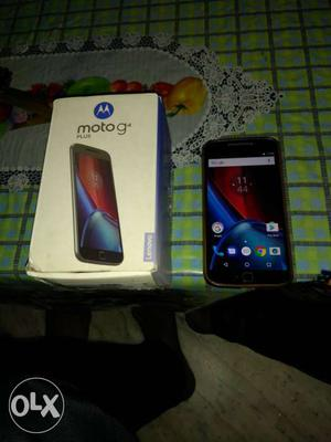Moto g4 plus 11 months old with box and bill