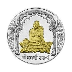 Swami Samarth Partial Gold Polish Silver Coin of 10 Gram in