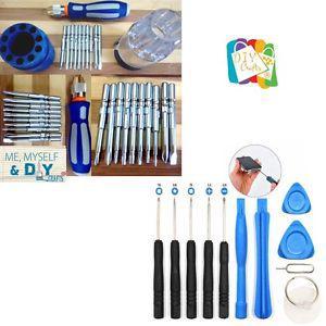2 Set Pry Screwdriver Repair Tool + Magnetic Screwdriver