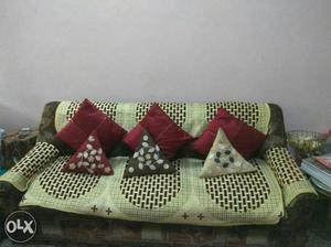 5 seater sofa set with proper cushions and cover