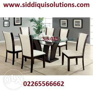 6 chairs dining set with back cushion we make the best