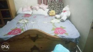 Double bed with mattress, dressing table and five