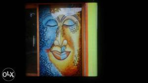 One of a kind hand painted glass-art sold along