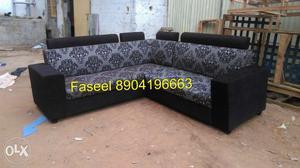 RT27 corner design sofa set latest fabric high quality