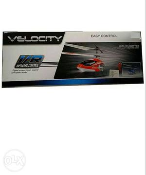 Velocity RC Helicopter with box, charger, remote