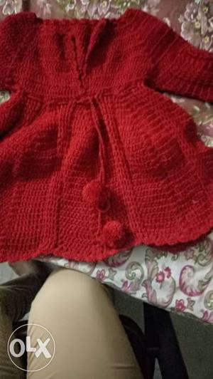 It's a hand knitted crochet frock. If u want