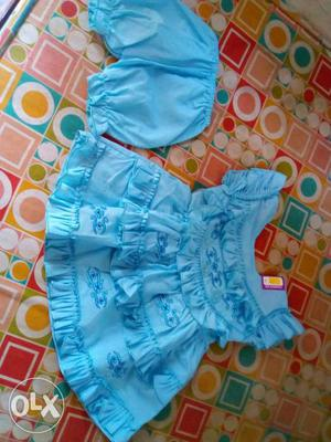 New pure cotton frock for baby girls with