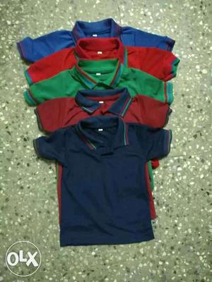 Polo kids t shirt with five colours and 3 sizes