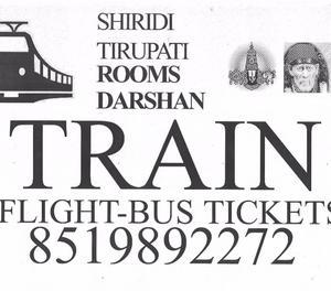 TRAIN (TATKAL) TICKETS..FLIGHT....BUS TICKETS Karimnagar