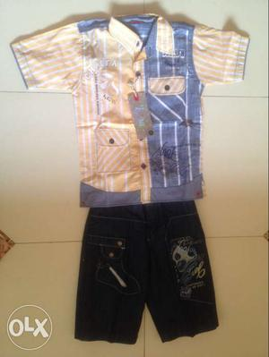 Unused baby cloth shirt height 50 cm 3/4 jeans 47