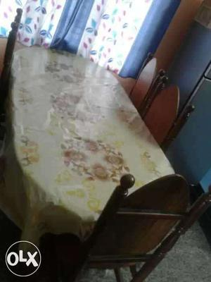 White Brown And Yellow Floral Table Cloth