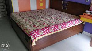 6 by 6 feet double bed with storage