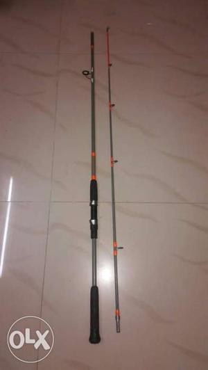 Black And Gray Fishing Rod