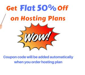 Get Flat 50% off on Hosting plans at FastWebHost India
