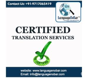 Professional Certified Translation Service Delhi NCR