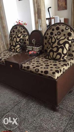 Sofa-setty with storage 2 seater, dressing table, Bangle box