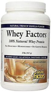 Natural Factors - Whey Factors, 100% Natural Whey Protein,