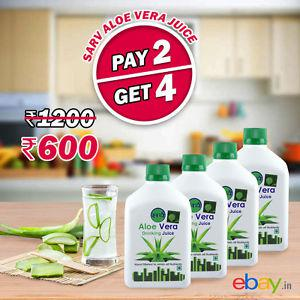 Sarv Aloe Vera Juice 500 ml (Pack of 4) - No Added Sugar +