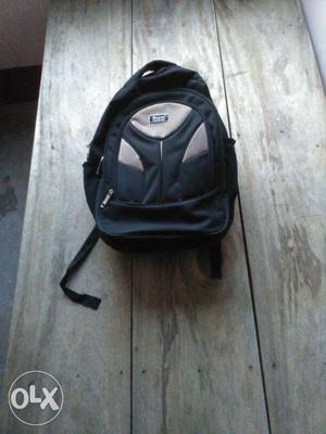 Black And Gray Backpack bag