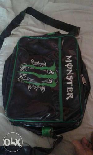 Black Monster Energy Drink Sling Bag