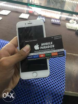Iphone 6 64gb silver With bill box all acc Top