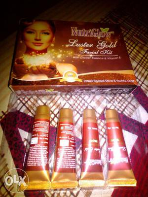 NutiGlow Luster Gold Facial Kit With Box