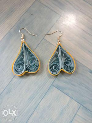 Paper quilled earings for 10