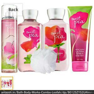 Sweet pea bath and body works combo set (perfume,