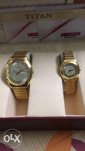 A beautiful set of Titan wrist watches for Ladies
