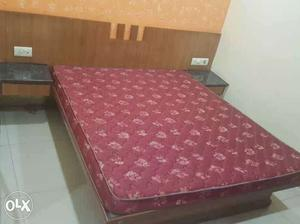 Double bed with mattress n side table used in our
