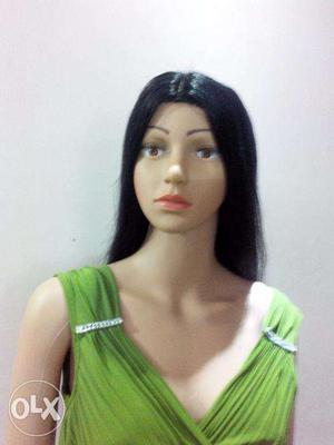 Hair wig black Straight long hair wig Indian look