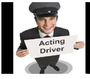 I am a acting driver. Acting driver for your need please co