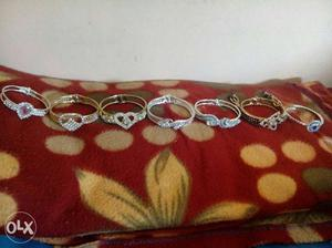 Women's Silver Diamond Rings